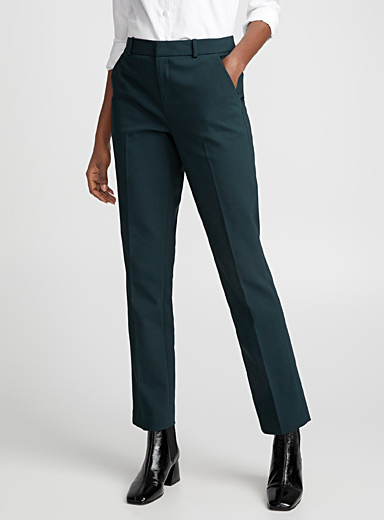 Structured straight pant