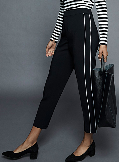 Athletic tuxedo trim pant