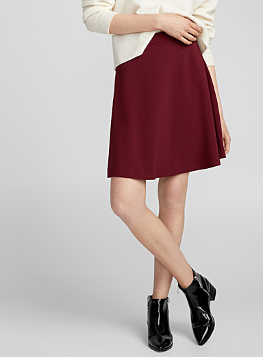 Minimalist flared skirt
