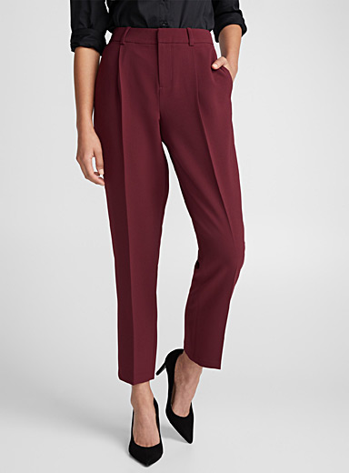 Techno crepe darted pant