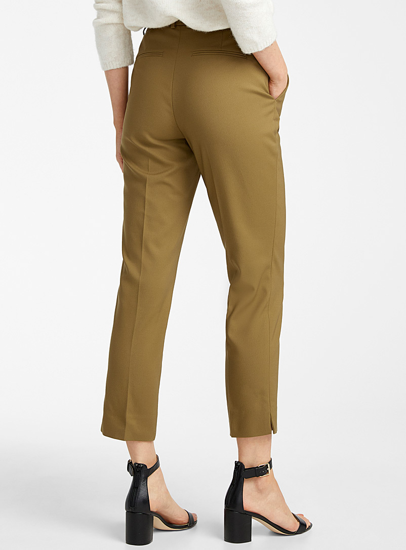Contemporaine Charcoal Structured slim pant for women