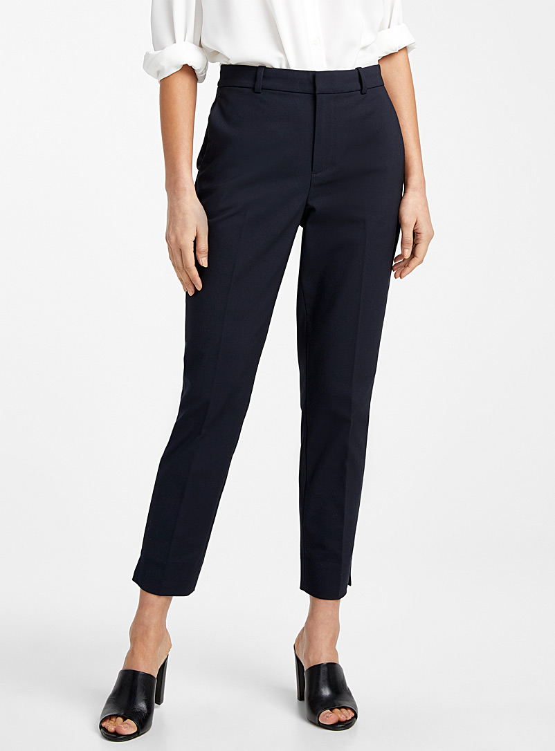 Contemporaine Marine Blue Structured slim pant for women
