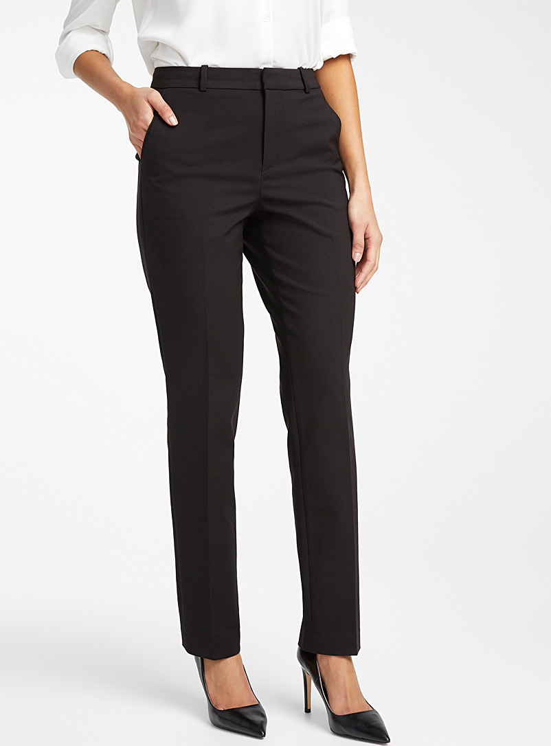 Contemporaine Black Straight structured pant for women