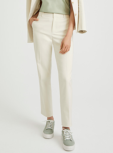 Straight structured pant
