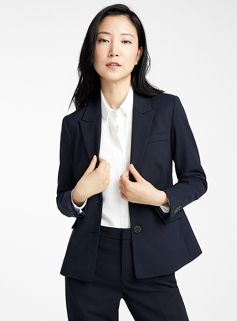Contemporaine Marine Blue Structured two-button jacket for women
