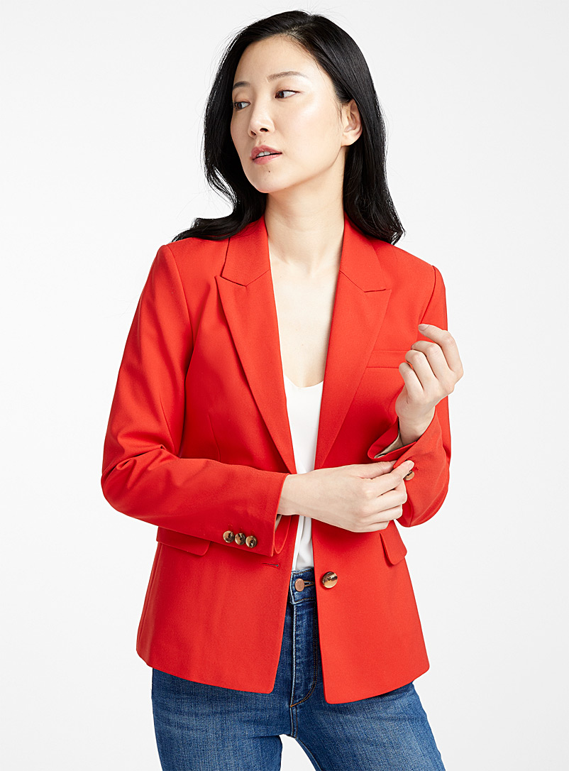 Contemporaine Bright Red Structured two-button jacket for women