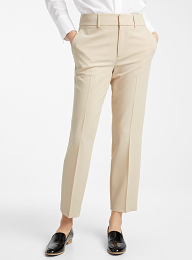 Semi-slim ankle-length career pant