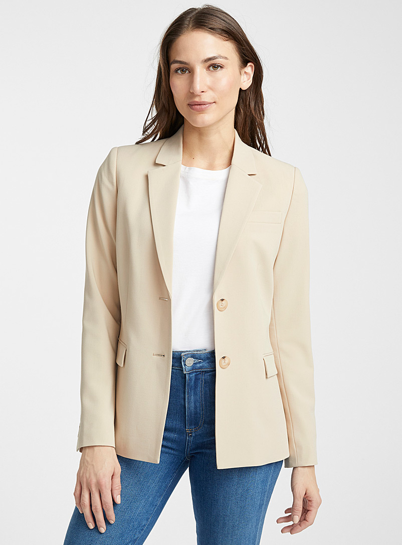 Contemporaine Baby Blue Two-button career jacket for women