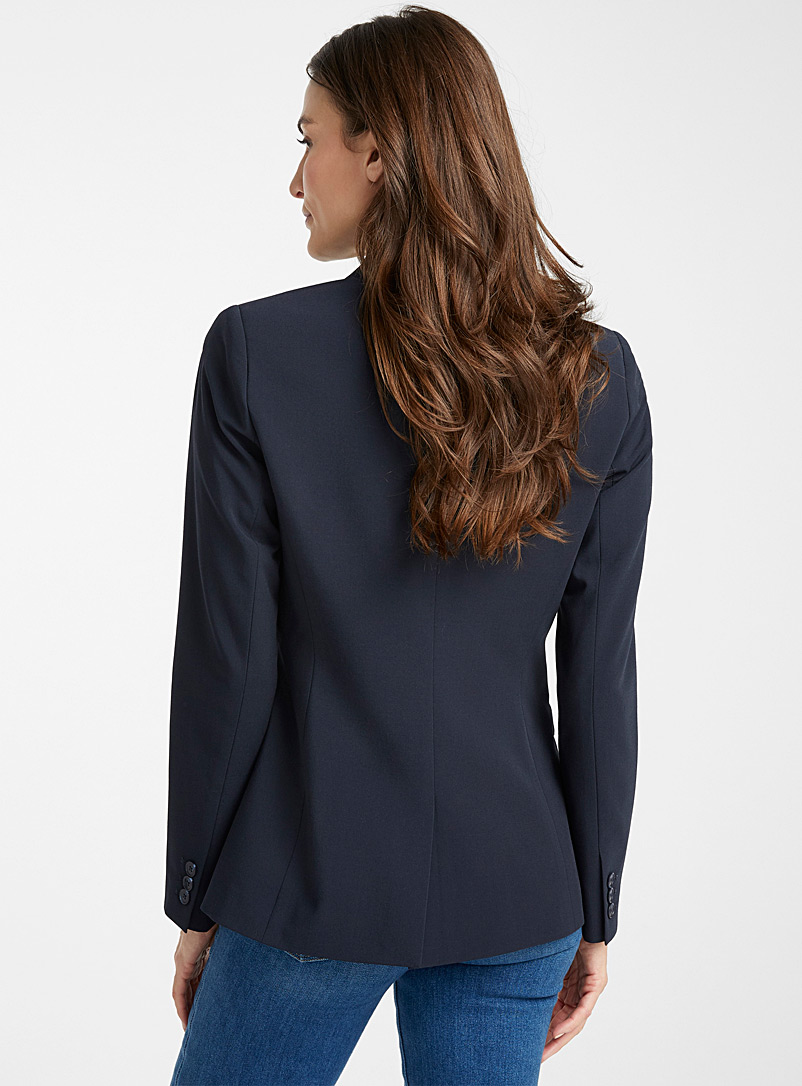 Contemporaine Black Two-button career blazer for women