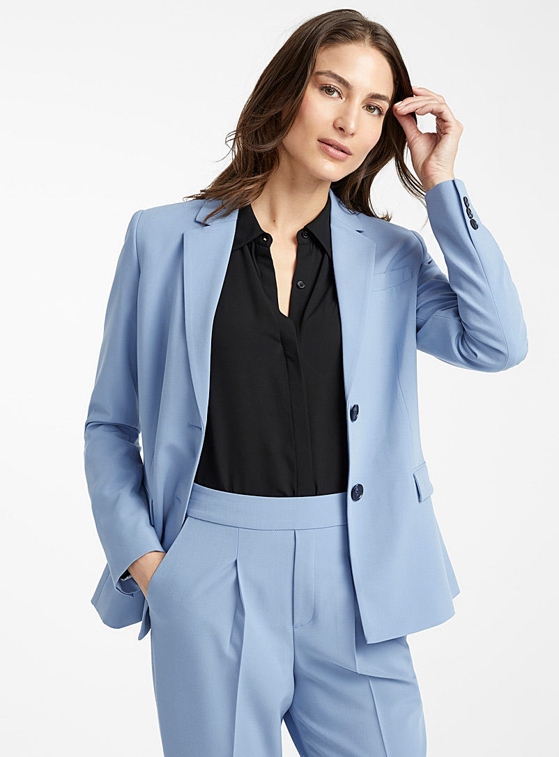 Career two-button jacket - Blazers - Baby Blue