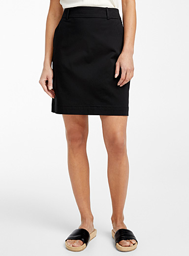 Cotton sateen skort