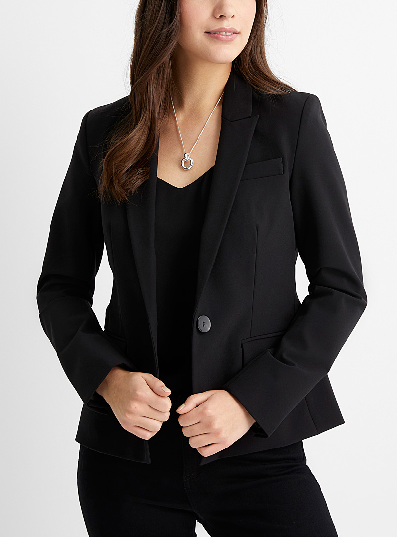 Single-button stretch jacket