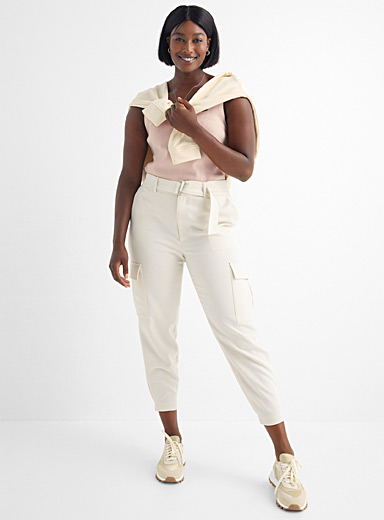 Suiting crepe cargo pant