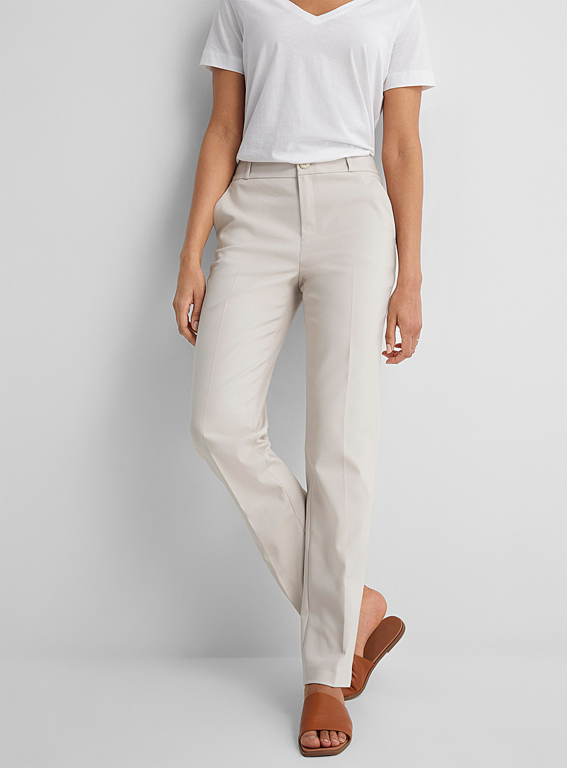 Contemporaine Sand Straight structured pant for women