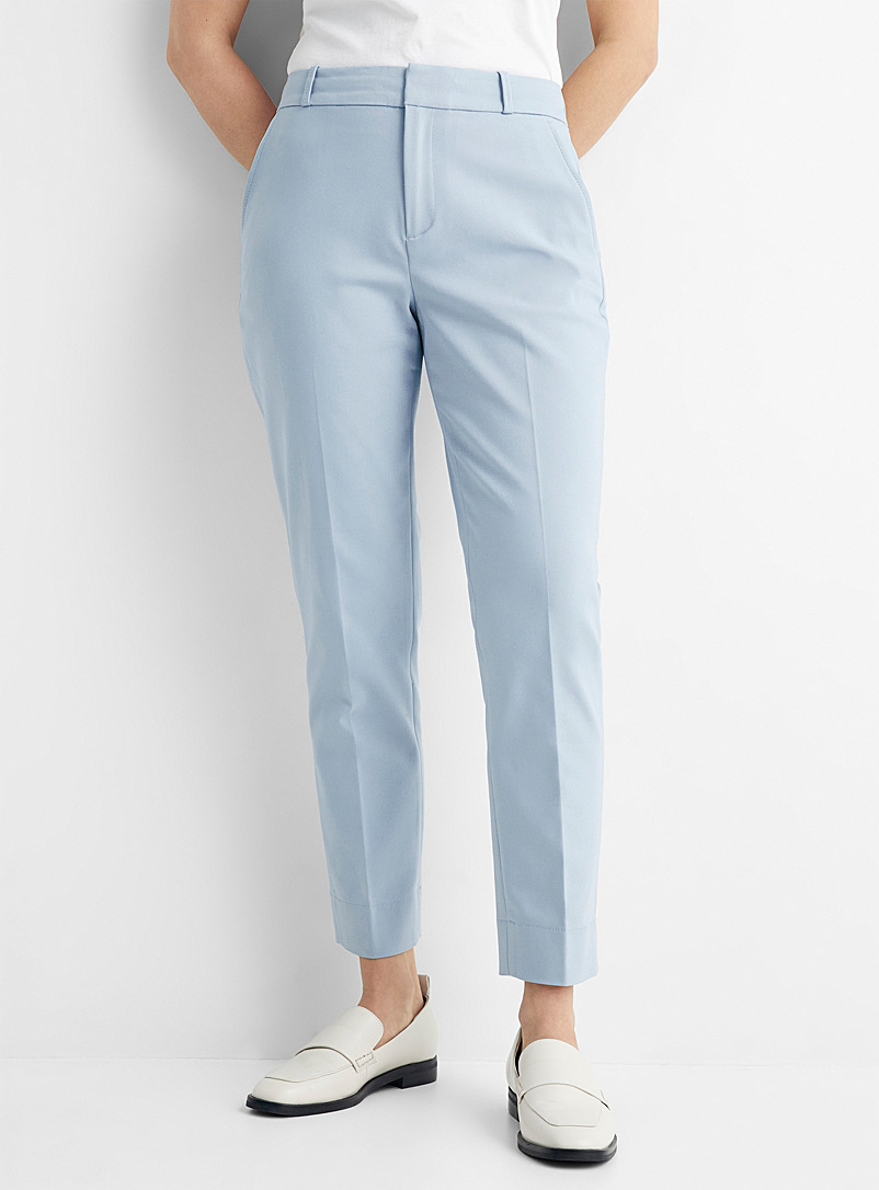 Contemporaine Baby Blue Slim structured pant for women