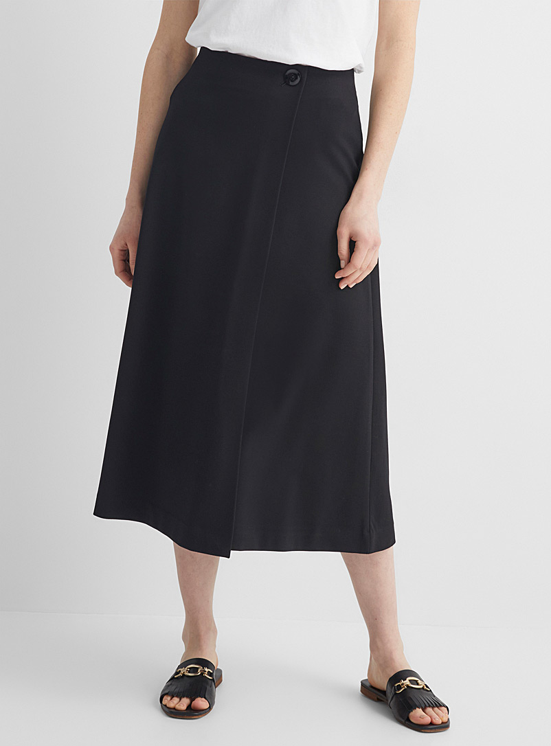 Stretch ponte wrap skirt