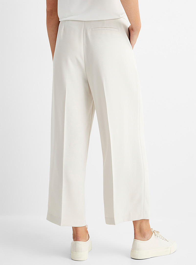 Contemporaine Sand Fluid and pleated wide-leg cropped pant for women