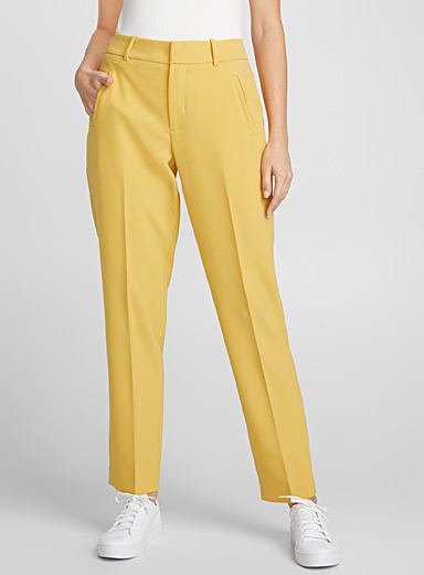 Techno crepe ankle pant