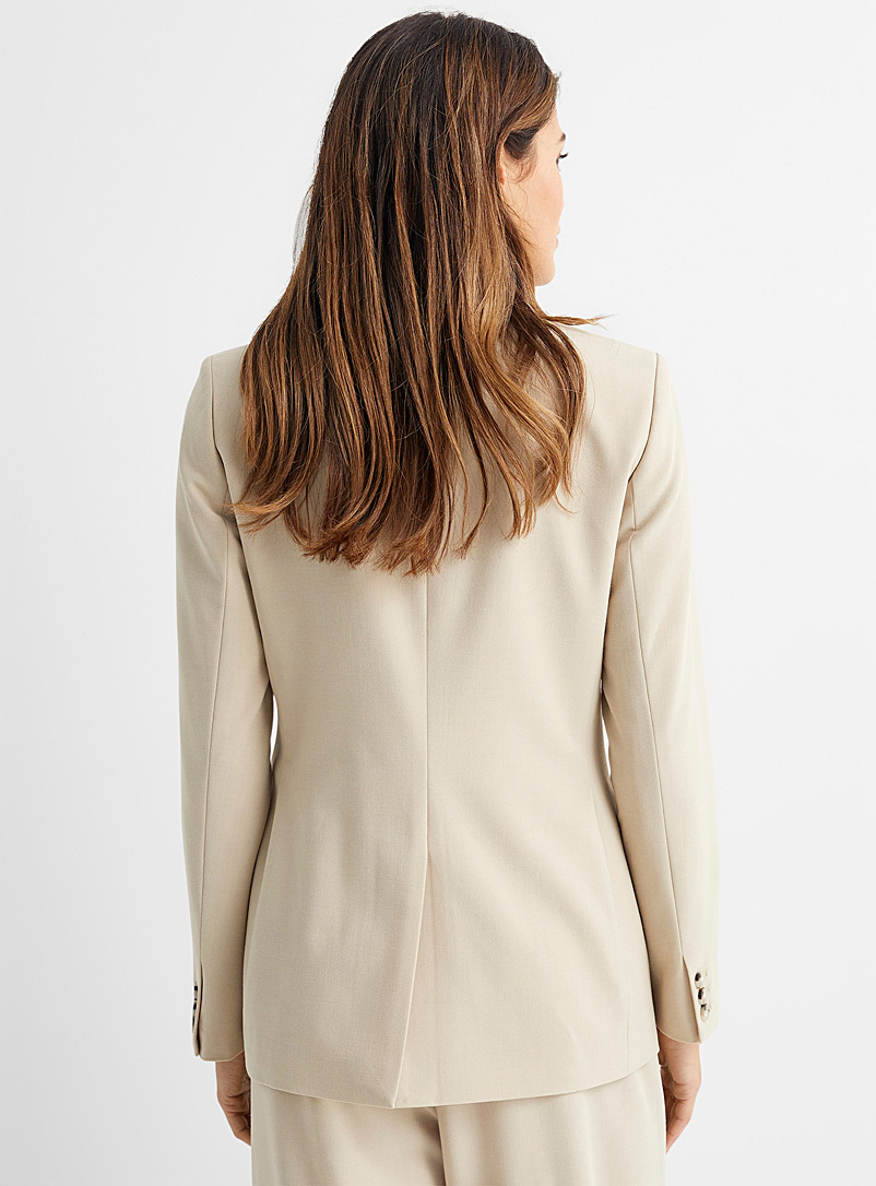 Contemporaine Sand Finely woven double-breasted jacket for women