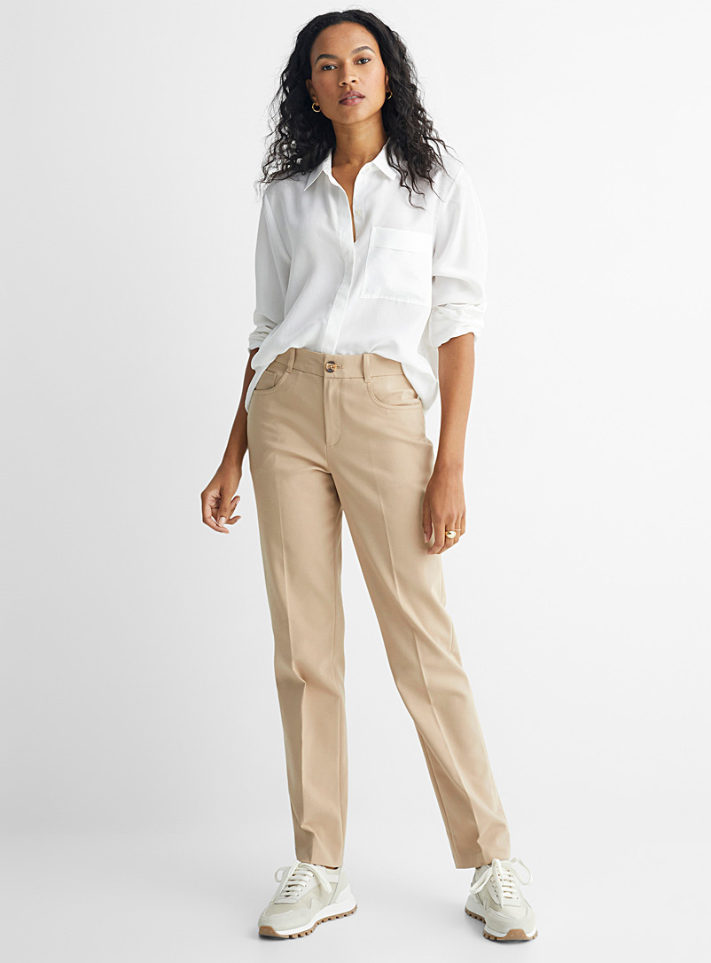 Contemporaine Fawn Straight structured pant for women
