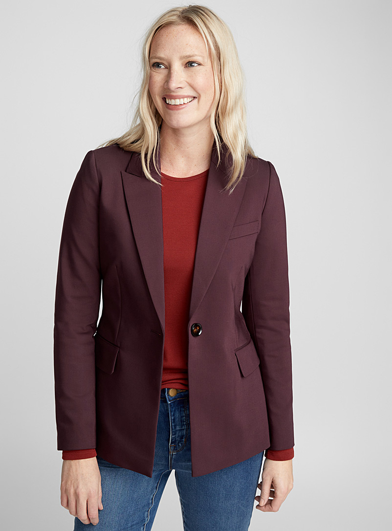 Single-button structured jacket - Blazers - Ruby Red