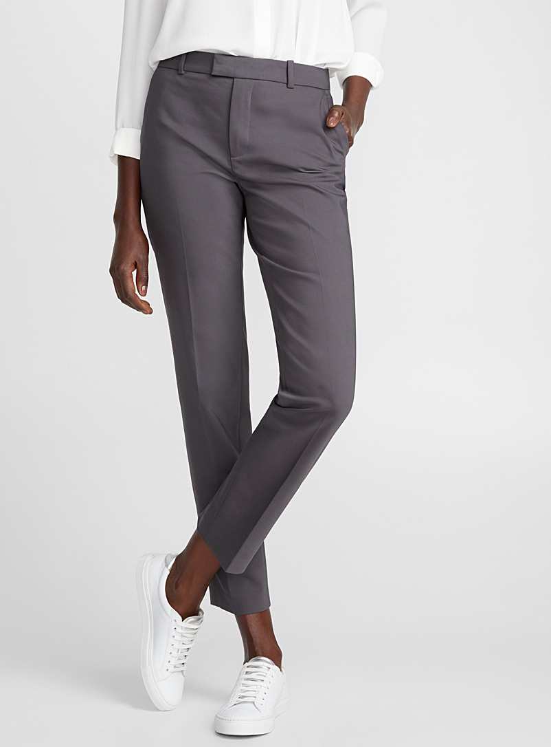 Structured straight pant - Pants - Charcoal