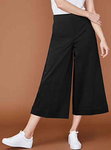 Cotton sateen culottes