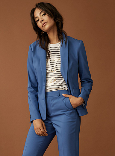 Structured double-button jacket