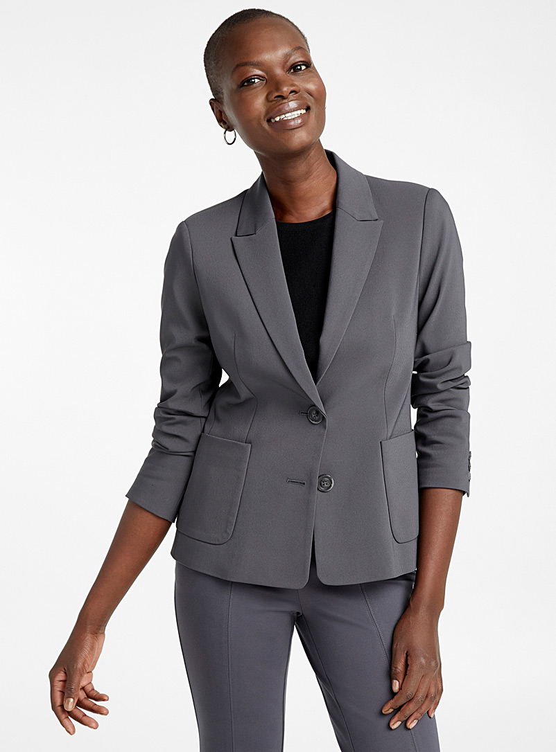Structured two-button jacket - Blazers - Dark Grey