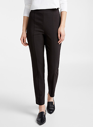 Structured slim fit pant