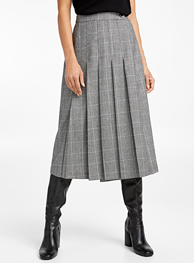 London memories pleated skirt
