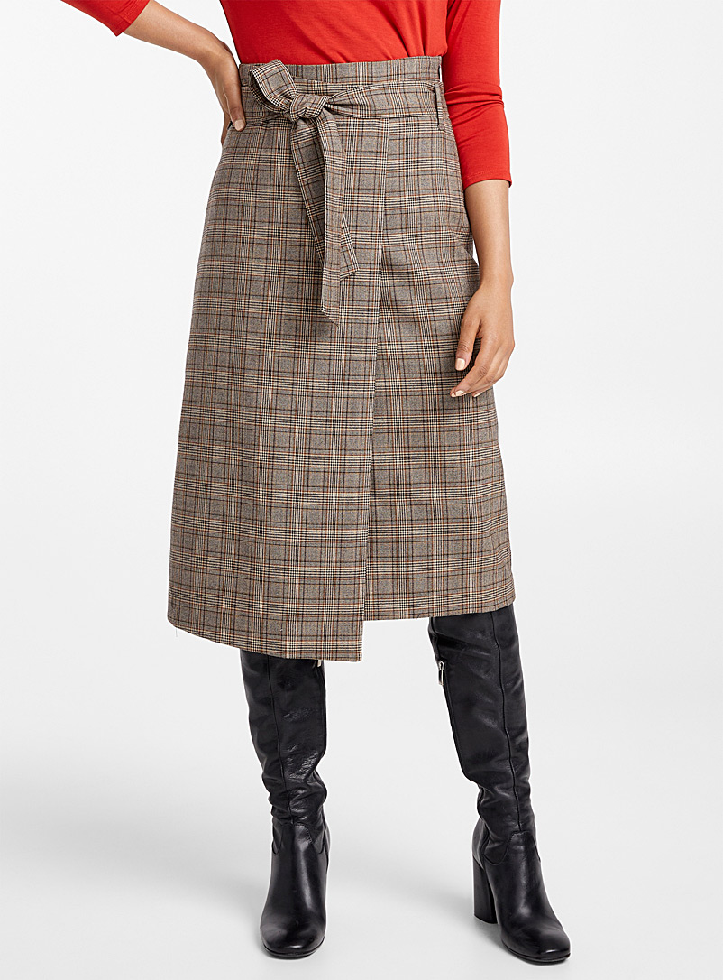 Prince of Wales wrap skirt - Skirts