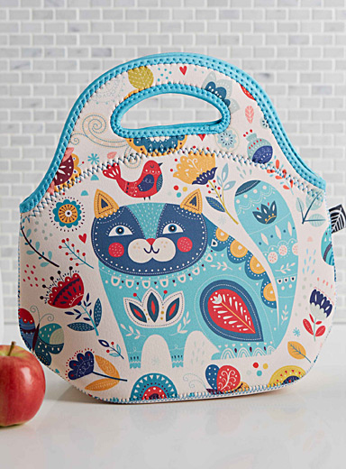 Fairy-tale kitten neoprene lunch bag