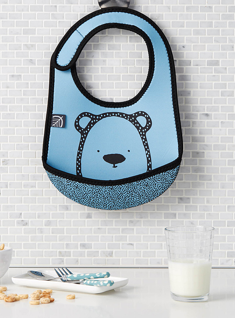 Blue bear neoprene bib - Kitchen - Blue