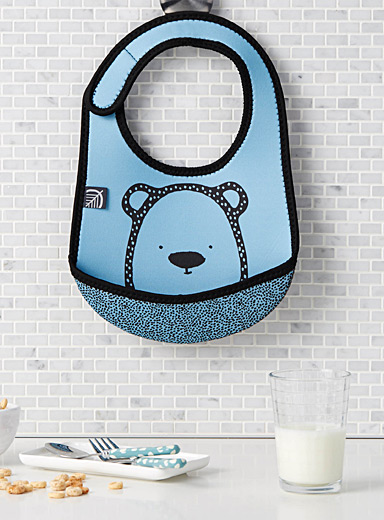 Blue bear neoprene bib