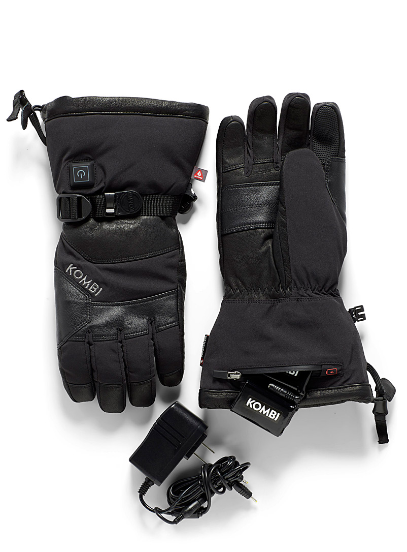 Kombi Black The Warm Up heated gloves for men
