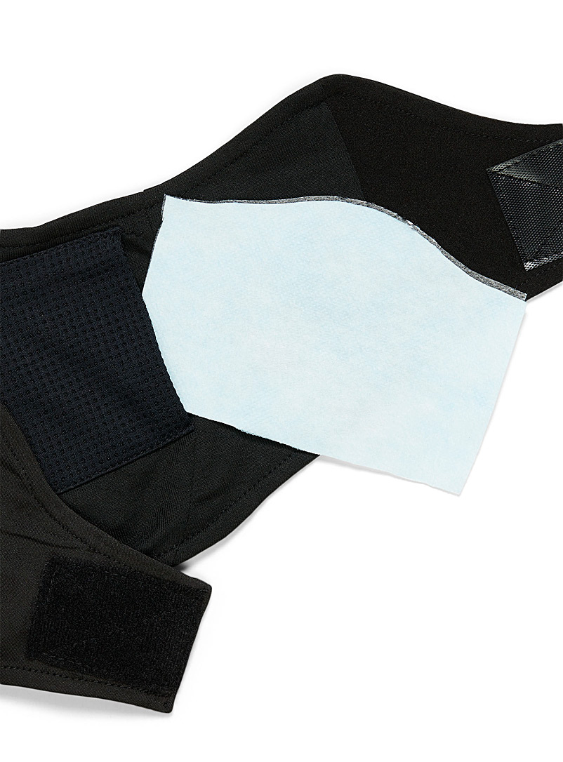 Kombi Black Sports face cover with filter for women