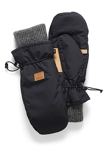 Kombi Black Touch of wool insulated mittens for women