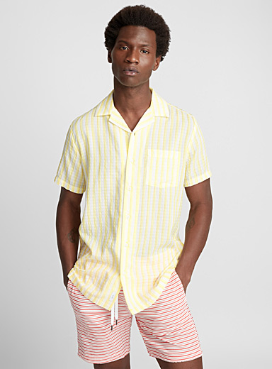 Stripe seersucker shirt