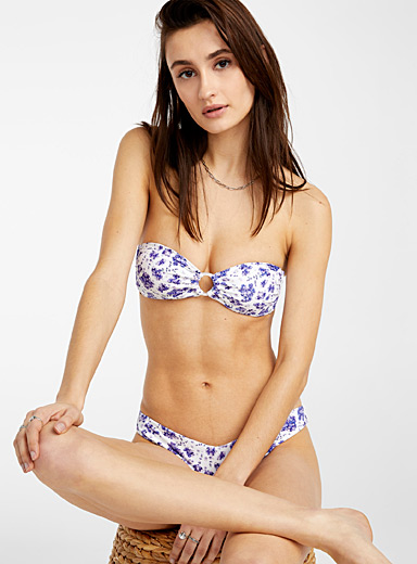 Onia Patterned Crimson O-ring Luna Lavender bralette for women