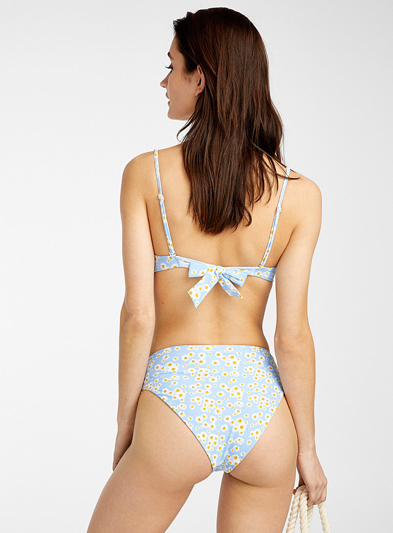 Onia Patterned Blue Floral Anais bottom for women