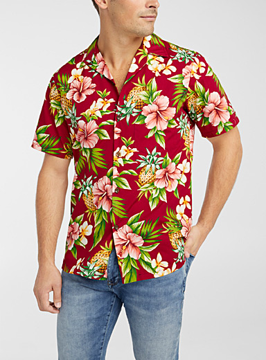 Hibiscus flower shirt