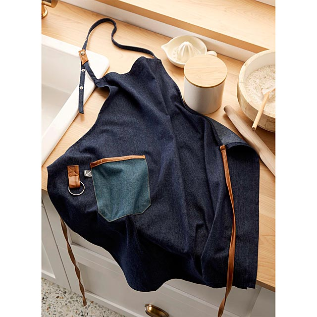 faux-leather-trimmed-denim-apron