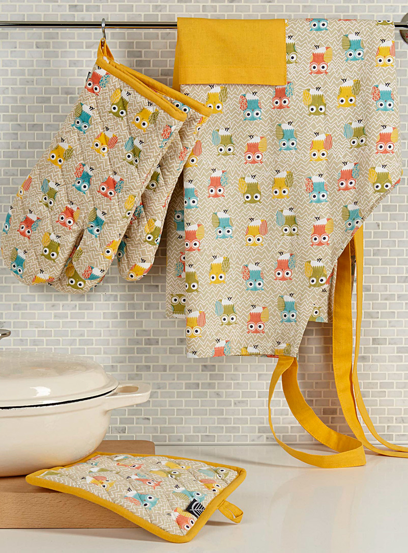 Adorable owl accessories - Aprons & Oven Mitts - Assorted