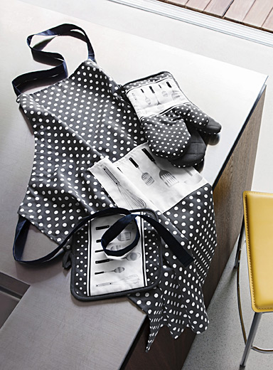 Simons Maison Patterned Grey Polka dot utensils accessories