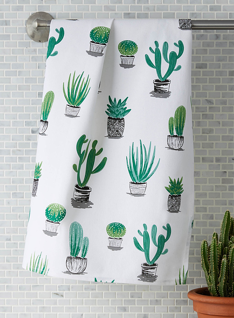 Simons Maison Assorted Cacti and succulents tea towel