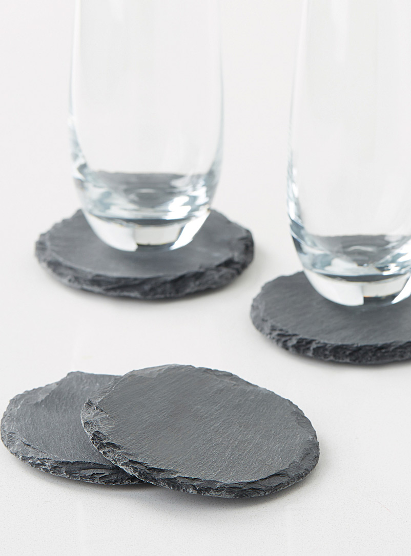 Simons Maison Black Slate coasters  Set of 4