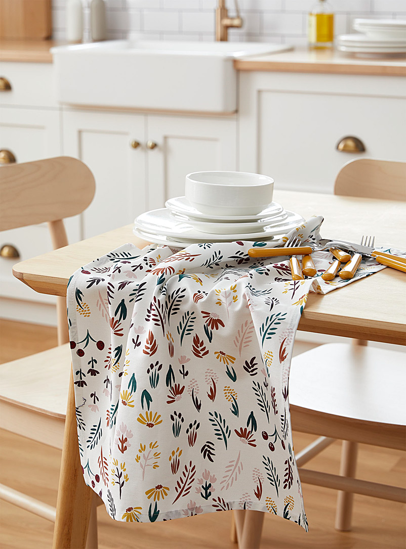 Simons Maison Assorted Colourful botanic tea towel
