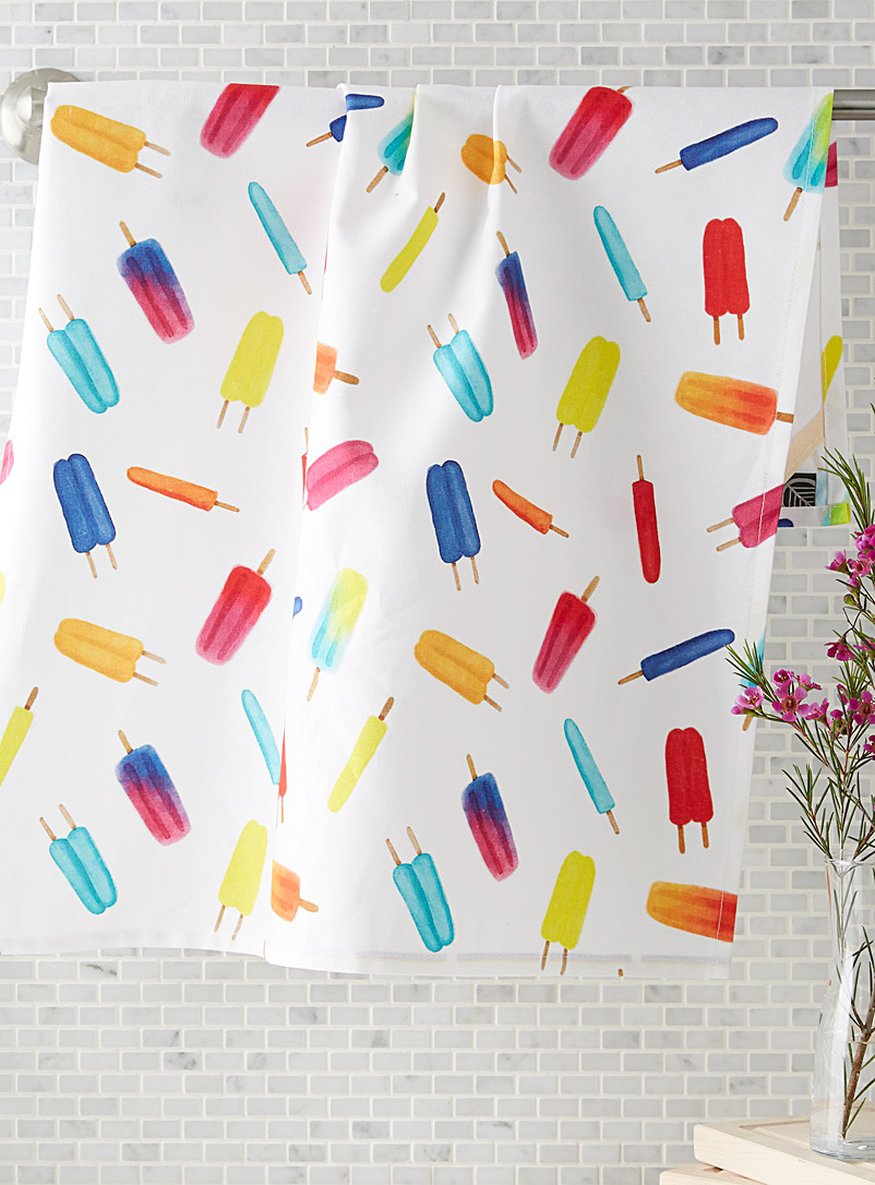 Simons Maison Assorted Frozen treat tea towel