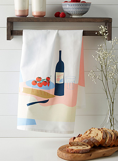 Catherine Lavoie x Simons Assorted Picnic tea towel